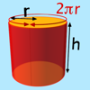 derive surface area of a cylinder graphic
